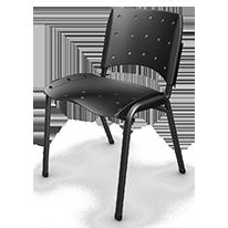 06- Cadeira Empilhavel Preta-206